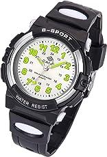 Kinderuhr Junge, Kinderuhr Armbanduhr Analog Wasserdicht Sports Uhren für Jungen und Mädchen Uhr Sports Uhren