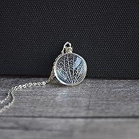 Kabbalah Albero Della Vita Vero Fiori Bicchiere Pendente Catena in Argento Sterling 925 Collane