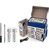 Dryrod Damp Proofing Staven DPC Kit: Behandelt 24 Lineaire meter (9 inch muur) - BBA Goedgekeurde stijgende vochtige behandel