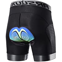 ARSUXEO Mens Cycling Shorts 5D Gel Padded MTB Bike Undershorts for Men Cycle Liner