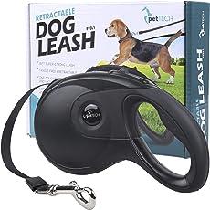 Einziehbare Hundeleine PetTech, 488 cm, Superstarke Leine, Bequemer und Strapazierfähiger Griff, Wirrfreier Futterzuführer, Geeignet für Hunde mit einem Gewicht von 7-52 kg!