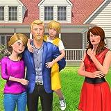 Virtuelle Familie Schritt Mom Kids Home Adventure