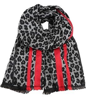 2e86631f8127e9 Caripe Winterschal Damen XXL Schal Leopard warm groß Stola Strickschal -  rov1