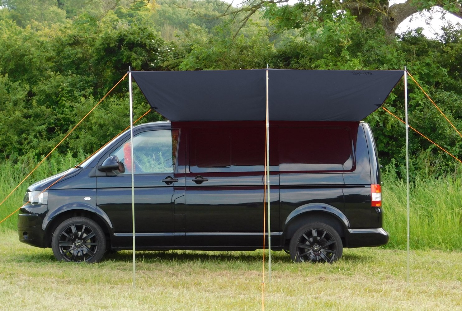 DEBUS Campervan Sun Canopy Awning - Anthracite Grey 1