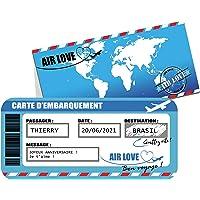 CARTE D'EMBARQUEMENT PERSONNALISÉE ! carte à gratter/Carte voyage à offrir/carte cadeau/carte avion train voyage