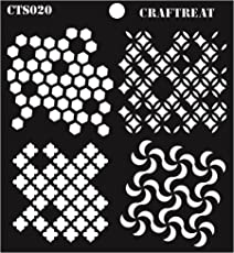"""CrafTreat Distressed Patterns Stencil 6""""X6"""""""
