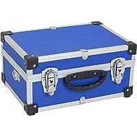 Mallette à outils en aluminium - Boîte à outils - Boîte en aluminium + sangle de transport