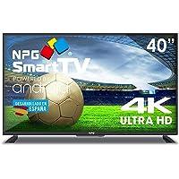 """Téléviseur LED 40"""" 4K NPG Smart TV Android UHD WiFi TDT2 H.265 USB Enregistreur"""