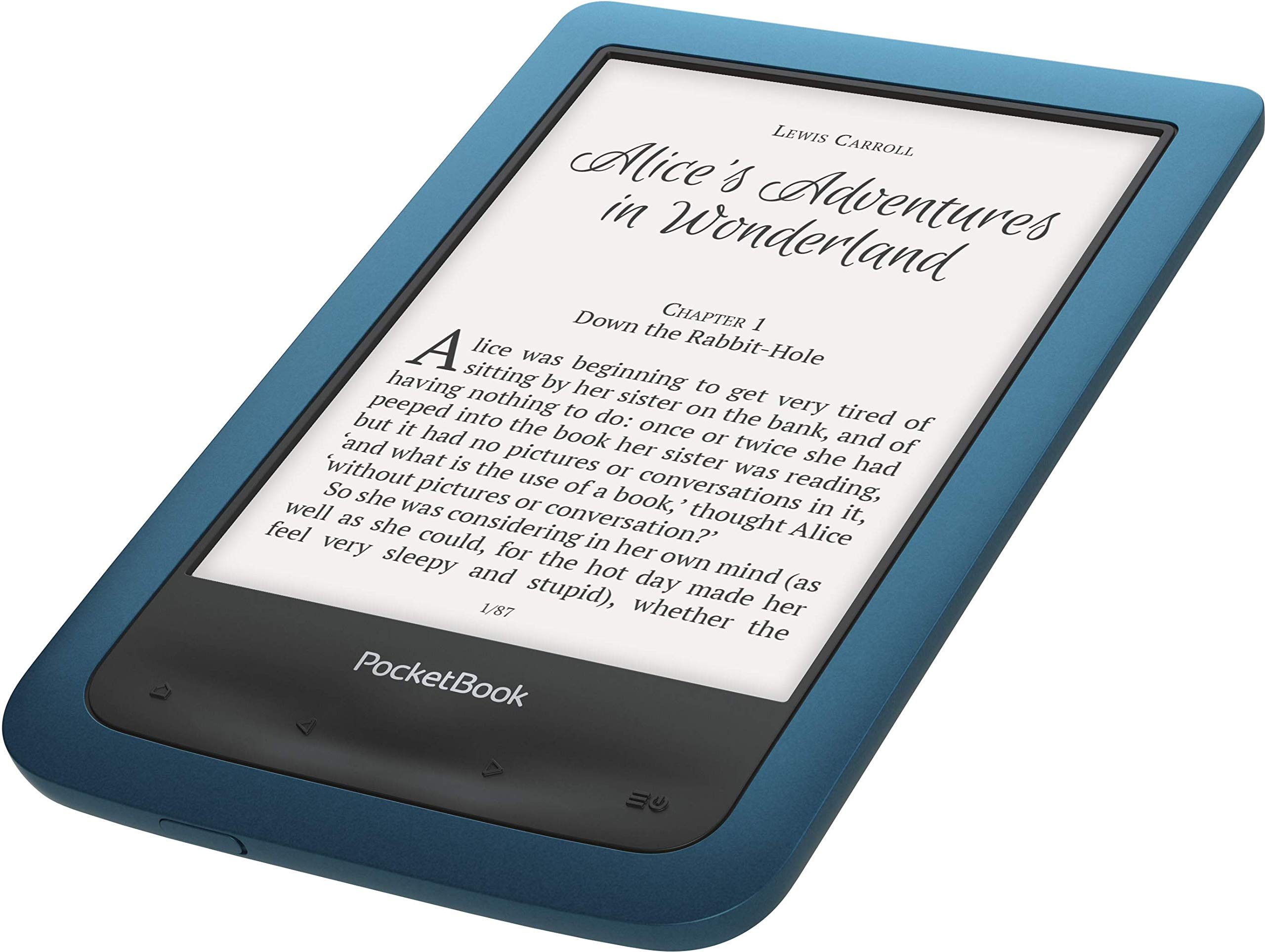 PocketBook e-Book Reader 'Aqua 2' (8 GB Speicher; 15,24 cm (6 Zoll) E-Ink Carta Display; Wi-Fi, wasserdicht) in Blau