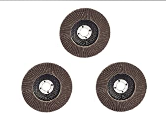 Excel Impex Flap Wheel disc for grinding and polishing metal 4 inches(set of 3 pieces for angle grinder)
