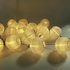 Innootech 20er Led Solar Lichterkette Lampions Garten Aussen Innen 3
