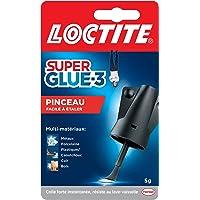 Loctite Super Glue-3 Pinceau, colle forte facile à utiliser avec son pinceau applicateur, colle liquide à séchage…