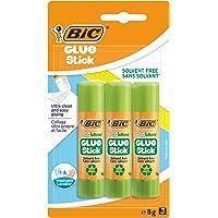 BIC ECOlutions Colle Stick, 8 gr, Confezione da 3, Ottime per i Lavori dei Bambini a Scuola e a Casa e per l'Art and…