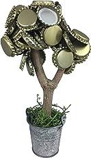 KRONLY originelles Geschenk für Männer hält über 50 Kronkorken Magnetbaum 20 cm Zwei Extra Starke Magnete Männergeschenk Geburtstag Trinkspiel