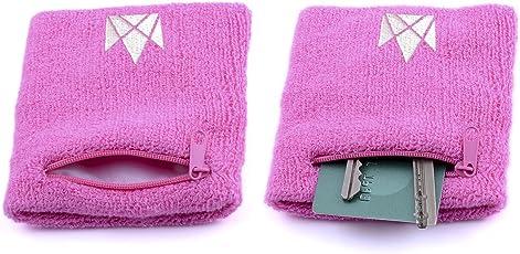 The Friendly Swede Schweißband 2er Set - Wristband, Handgelenktasche, Schweißarmband mit praktischer Reißverschlusstasche