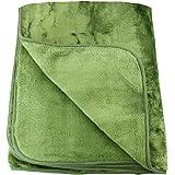 Amago Couverture Extra-Douce, Cashmere-Feeling, Vert foncé, 130 x 170 cm