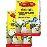 Aeroxon – Gul klistermärken, gul fälla, gula tavlor, 20 delbara limpaneler, perfekt för skadedjur, hem och på balkongen, för