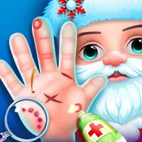 Crazy Santa Hand Doctor - Hospital Game