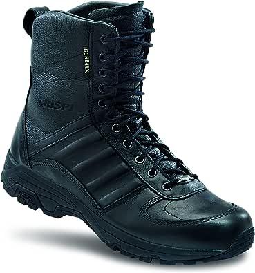 Crispi Anfibi Militari Swat Evo GTX, Pelle Pieno Fiore Idrorepellente (Nero)