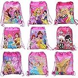 Sillyme Cartoon Printed Dori Bag for Kids Favor / Haversack Bag | Birthday Party Return Gift (for Girls(12pcs))