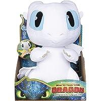 Dragons - Movie Line - 6046845 - Squeeze & Growl, Plüschfigur mit Sound - Tagschatten (Solid), Drachenzähmen leicht gemacht 3, Die geheime Welt