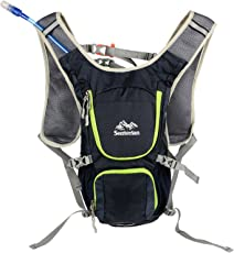 Senterlan S3079 Cycling Hydration Backpack with Mouth Water Bladder Bag - Navy Blue Hydration Bag Bladder - Hydration Pack