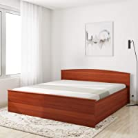 Amazon Brand - Solimo Optima Manual Box Storage King Bed (Sienna Cherry)
