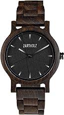 ZARTHOLZ Herren Damen Unisex Holzuhr Holz-Armbanduhr Klassik