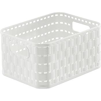 100% Wahr Wenko Aufbewahrungskorb Adria Mini Weiß Rechteckig 20361100 Bad Korb Design Badzubehör & -textilien