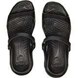 crocs Women's Cleo Black Croslite Fashion Sandals - W4