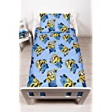 Children's Cot/Junior/Toddler Bed Duvet Cover and Pillowcase Sets - 120cm x 150cm (Despicable Me Minions 'Bello')