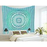 Aakriti Gallery Baumwolle Mandala Wandteppich Wandbehang - Böhmische Tagesdecke, Boho Decke / Überwurf Wandteppiche für Wohnz