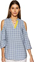 Amazon Brand - Myx Women's Checkered Regular fit Top