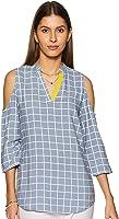 Amazon Brand - Myx Women's Checkered Regular fit Top