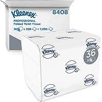Kleenex 8408 Papier toilette plié 2 épaisseurs, 36 paquets de 200 feuilles, Pour distributeurs Aquarius compatibles…
