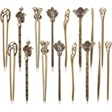 16 Pezzi Bastoncini per Capelli per le Donne Forcine di Capelli Cinesi Capelli Bacchette Bastoni Retrò Vintage Decorativo