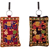 Craft Trade Cotton Handicraft Traditional Embroidery Mobile Phone Purse Pouch Case Cover Sling Wallet Gift for Women