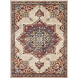 HAIZHEN- Anti-slip Living Room Carpet, Retro Large Area Rectangular Floor Mat, Easy to Care(Size:80x120cm)