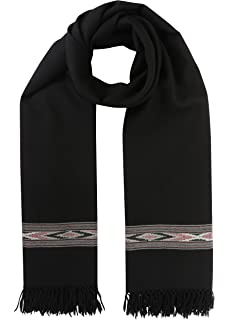 "Black Kashmir Yemeni Habaib Style Mens Muslim Scarf Shawl Turban Sorban 41/""x80/"""