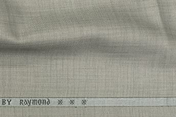 Raymond Men's Unstitched Solid Suit Fabric (Grey, 3m)