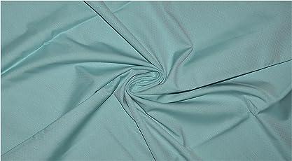 Raymond Mens Pure Cotton Self Design Un-Stitched Shirt Fabric (1.60 MTR_Blue_RG2037)
