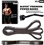 SLOVIC Resistance Band/Pull Up Band/Resistance Bands 42 Inch with Door Anchor for Calisthenics with Physical Booklet with...