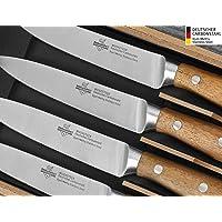 """SteakChamp Premium Steakmesser """"4 Musketeer"""", Deutscher Carbonstahl (rostfrei), 4er Set in Geschenk-Box"""