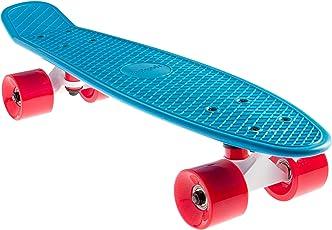 SportPlus EZY! Mini-Cruiser Retro Skateboard mit ABEC-5 Kugellager, Länge ca. 56 cm, 3,25 Zoll Aluminium Trucks, geprüft nach EN 13613, verschiedene Designs