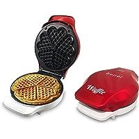 Beper   Piastra per Waffle  Cialdiera  5 Waffle Alla Volta  Piastra Antiaderente 18cm  800 100W   Rosso Bianco