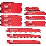 32 st ömsesidiga sågblad, HYCHIKA Sabre sågblad, 10 st för metallskärning, 22 st för träskärning, med organiseringsväska