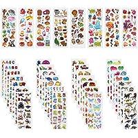 Annhao Autocollants pour Enfants, 1000+ Autocollants 3D pour Fille Garcon, 40 Feuilles Autocollants de Variétés pour…