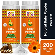 Bey Bee : Natural Baby Powder for New Born Babies & Kids | No - Talc | Made-Safe Certified | Hypoallergenic | Parabens & SLS Free | Blossoms | Mild Fragrance | Each 100 GMS (Pack of 2)