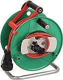 Brennenstuhl Garant G IP44 Gartenkabeltrommel (Kabeltrommel für Rasenmäher mit 38+2m Kabel in rot, Spezialkunststoff…
