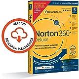 Norton 360 Deluxe 2021 - Antivirus software para 5 Dispositivos y 15 meses de suscripción con renovación automática, Secure V
